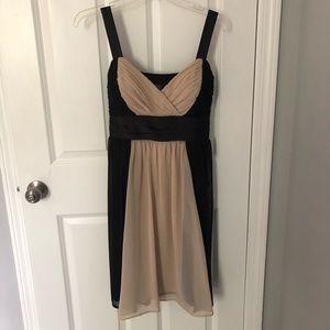 Slimming nude/black Dress Barn dress